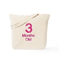 3 Months Old Baby Milestones Tote Bag