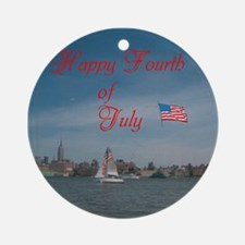 Happy Fourth Of July. Ornament (Round)
