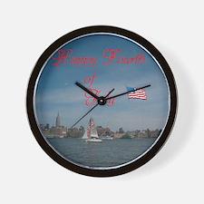 Happy Fourth Of July. Wall Clock