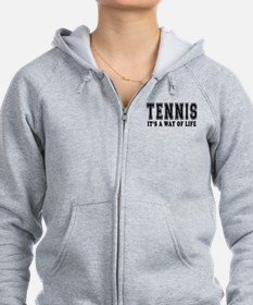 Tennis It's A Way Of Life Zip Hoodie
