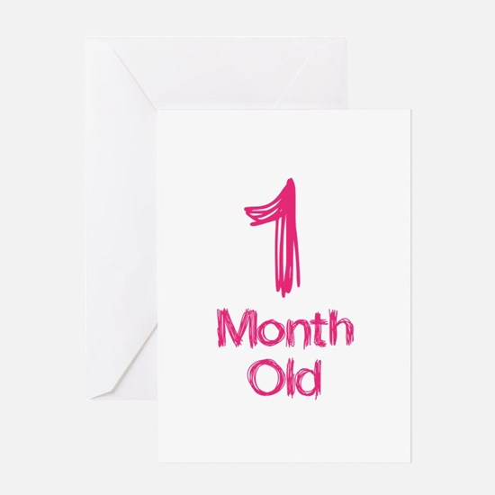 1 Months Old Baby Milestones Greeting Card