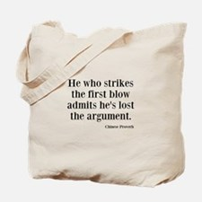 The First Blow Tote Bag