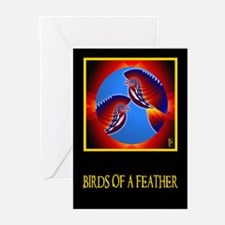 BIRDS of a FEATHER Greeting Cards (Pk of 10)