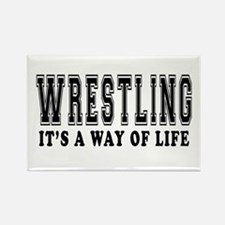 Wrestling It's A Way Of Life Rectangle Magnet