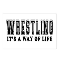 Wrestling It's A Way Of Life Postcards (Package of