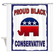 PROUD BLACK Shower Curtain