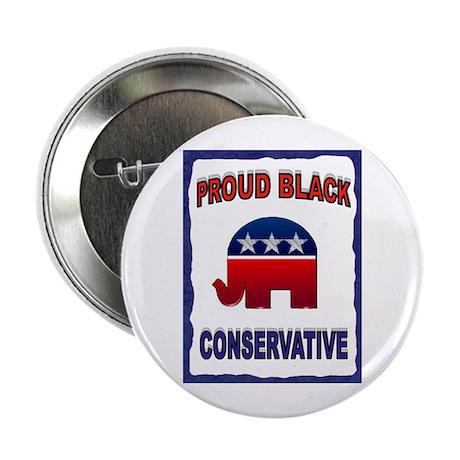 """PROUD BLACK 2.25"""" Button (10 pack)"""