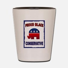 PROUD BLACK Shot Glass