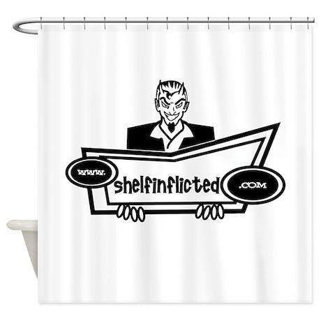 Shelf Inflicted Devil Shower Curtain
