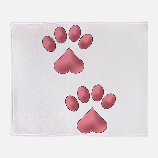 Two Paws Throw Blanket