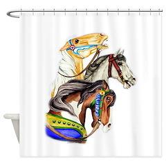 Carousel Horses Shower Curtain
