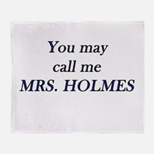 Mrs. Holmes Throw Blanket