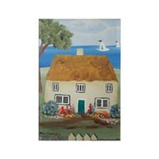 Cottage by the Sea Rectangle Magnet