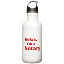 Relax I'm a Notary Water Bottle
