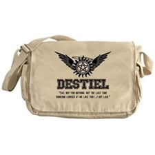 Destiel Quote Series 13 Messenger Bag