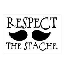 Respect the Stache Postcards (Package of 8)