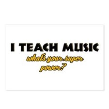 I Teach Music what's your super power Postcards (P