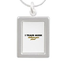 I Teach Music what's your super power Silver Portr