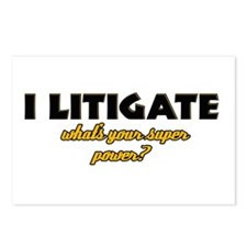 I Litigate what's your super power Postcards (Pack