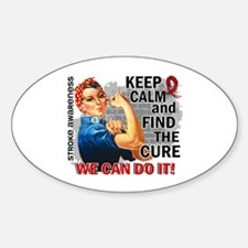Rosie Keep Calm Stroke Sticker (Oval)