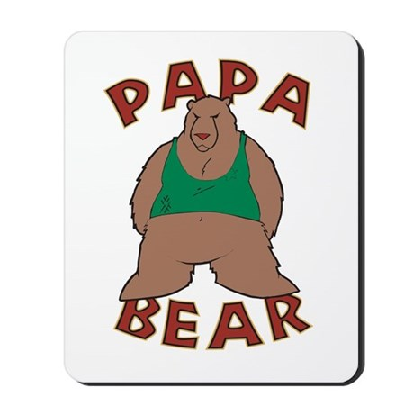 Papa Bear - Brown Mousepad