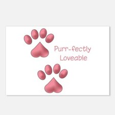 Purr-fectly Loveable Postcards (Package of 8)