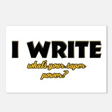 I Write what's your super powe Postcards (Package