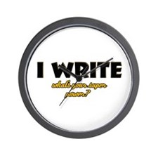 I Write what's your super powe Wall Clock