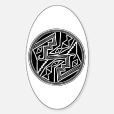 Mimbres Design 2 Oval Decal