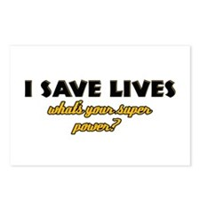I Save Lives what's your super powe Postcards (Pac