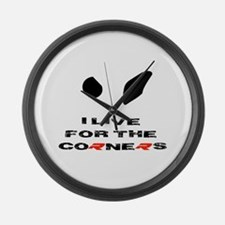 S1000RR I live for the corners Large Wall Clock