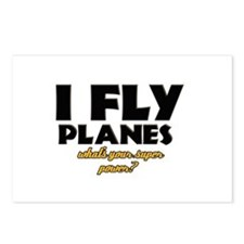 I Fly Planes what's your super power Postcards (Pa