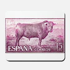 Vintage 1960 Spain Fighting Bull Postage Stamp Mou