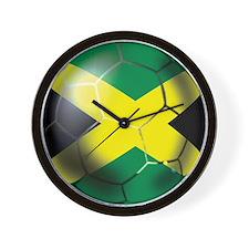 Jamaican Soccer Ball Wall Clock