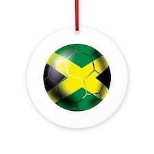 Jamaican Soccer Ball Ornament (Round)