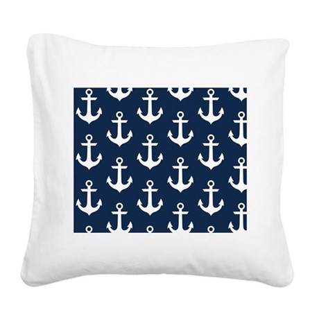 Anchors Square Canvas Pillow