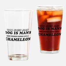 Chameleon Designs Drinking Glass