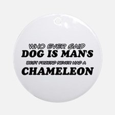 Chameleon Designs Ornament (Round)