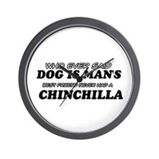 Chinchilla Designs Wall Clock