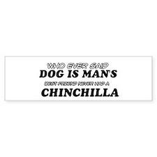 Chinchilla Designs Bumper Sticker