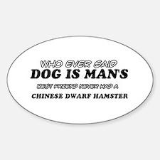 Chinese Dwarf Hamster Designs Sticker (Oval)