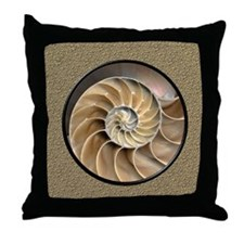 Nautilus Shell Throw Pillow