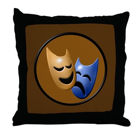 Theatre Masks Throw Pillow