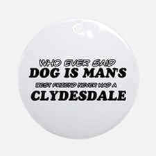 Clydesdale Designs Ornament (Round)