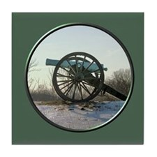 Cannon in Winter Tile Coaster