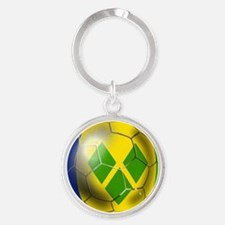Saint Vincent Football Round Keychain