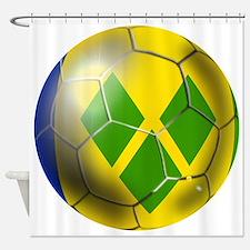 Saint Vincent Football Shower Curtain