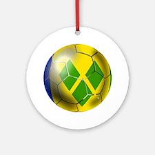 Saint Vincent Football Ornament (Round)
