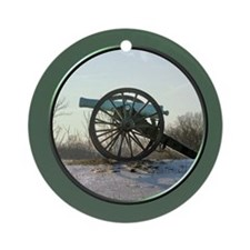 Cannon in Winter Ornament (Round)