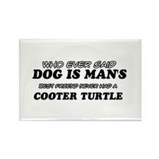 Cooter Turtle Designs Rectangle Magnet